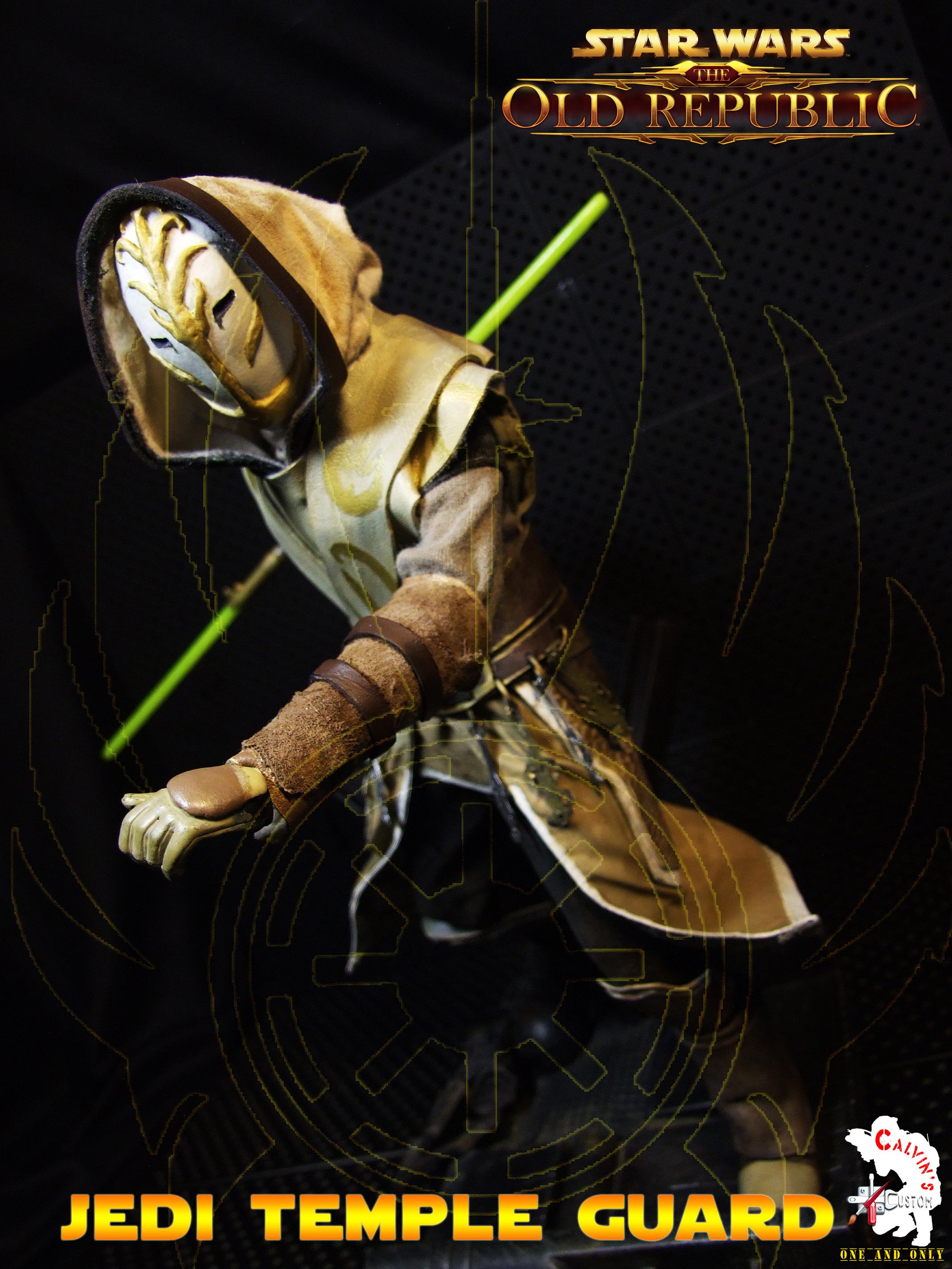 Calvin's Custom One Sixth Starwars the old republic JEDI TEMPLE GUARD figure
