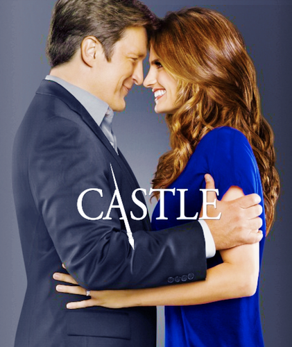Caskett wallpaper possibly containing a business suit and a portrait titled Caskett-Poster season 6