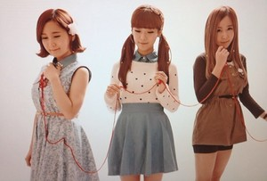 """Choa, Soyul, and Way's photo jacket shooting for """"The Streets Go Disco"""" album"""