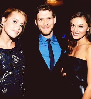 Claire Holt, Joseph morgan & Phoebe Tonkin → CW Upfronts 2013
