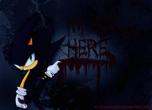 Sonic the Hedgehog wallpaper called Dark Sonic: I'm Still Here