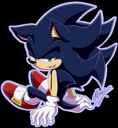 刺猬索尼克 壁纸 entitled Dark Sonic