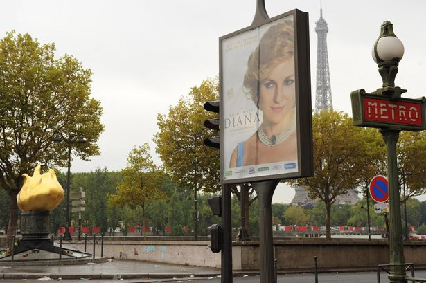 Diana movie poster spotted at the site of her tragic death