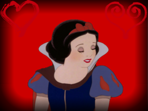 Disney Princesses on red backgrounds