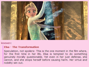 "Disney's ""Frozen"" - Elsa: The Transformation"