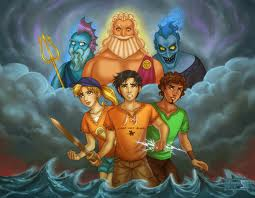 Percy Jackson & The Olympians boeken achtergrond probably containing anime titled Drawing