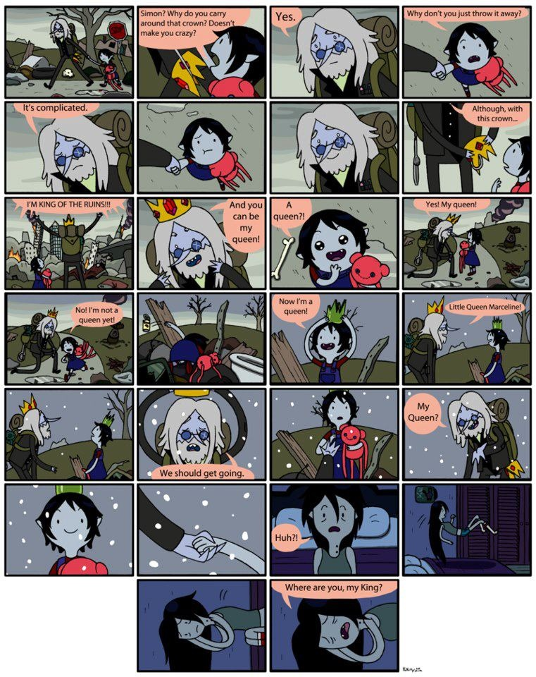 Dream Comic Simon and Marcy.... (Already posted in Ice King and Marceline club)