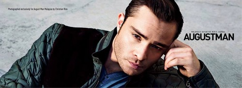 Ed Westwick wolpeyper probably containing a portrait called ED WESTWICK for AUGUST MAN MAGAZINE PHOTOSHOOT