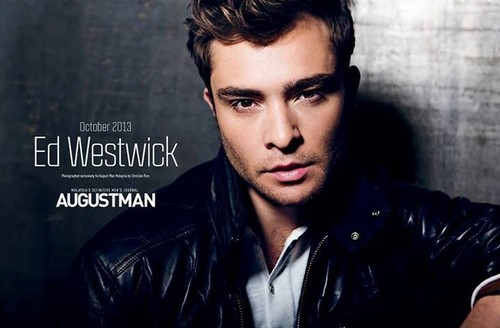 Ed Westwick wallpaper probably containing a portrait titled ED WESTWICK for AUGUST MAN MAGAZINE PHOTOSHOOT