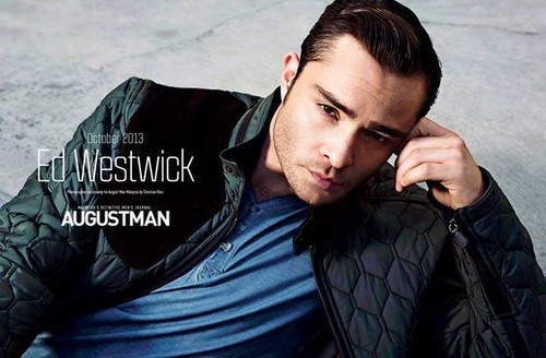 Ed Westwick fond d'écran possibly containing a capuche, hotte and an outerwear called ED WESTWICK for AUGUST MAN MAGAZINE PHOTOSHOOT
