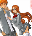 Eat!!! by evcik - ichigo-and-orihime fan art