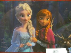 Elsa and Anna close up