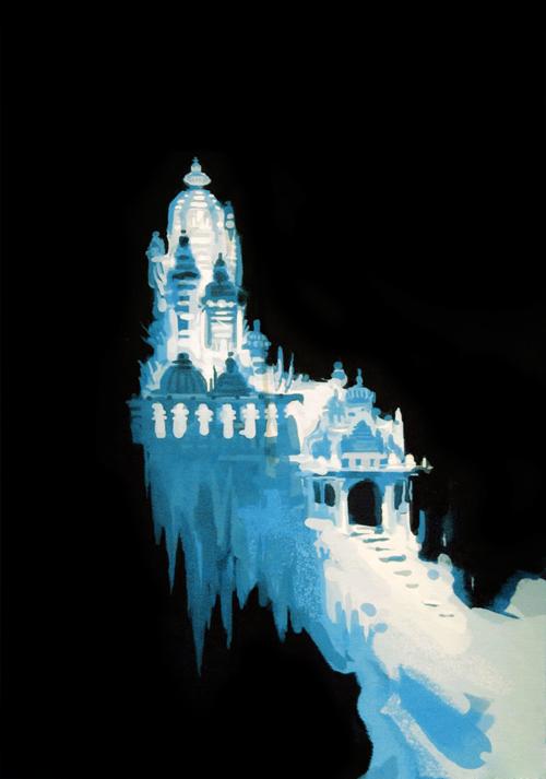 Elsa S Ice Palace Concept Art Frozen Photo 35629639