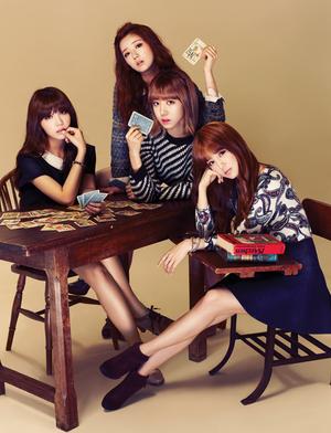 Eunji & Bomi & Namjoo & Chorong (A Pink) - Campus 10 Magazine September Issue '13
