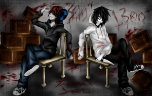 Eyeless Jack (Left) and Jeff The Killer (Right)