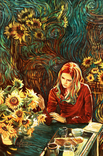 Amy Pond 바탕화면 possibly with 아니메 titled Fanart :)