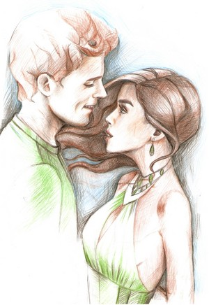 Finnick Odair and Annie Cresta