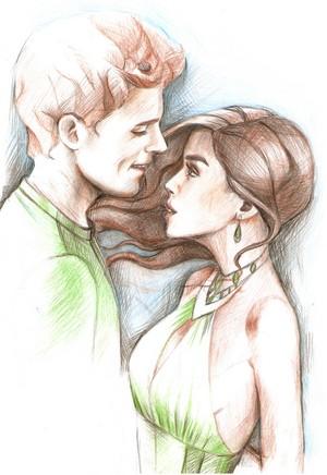 Finnick Odair and Annie Cresta