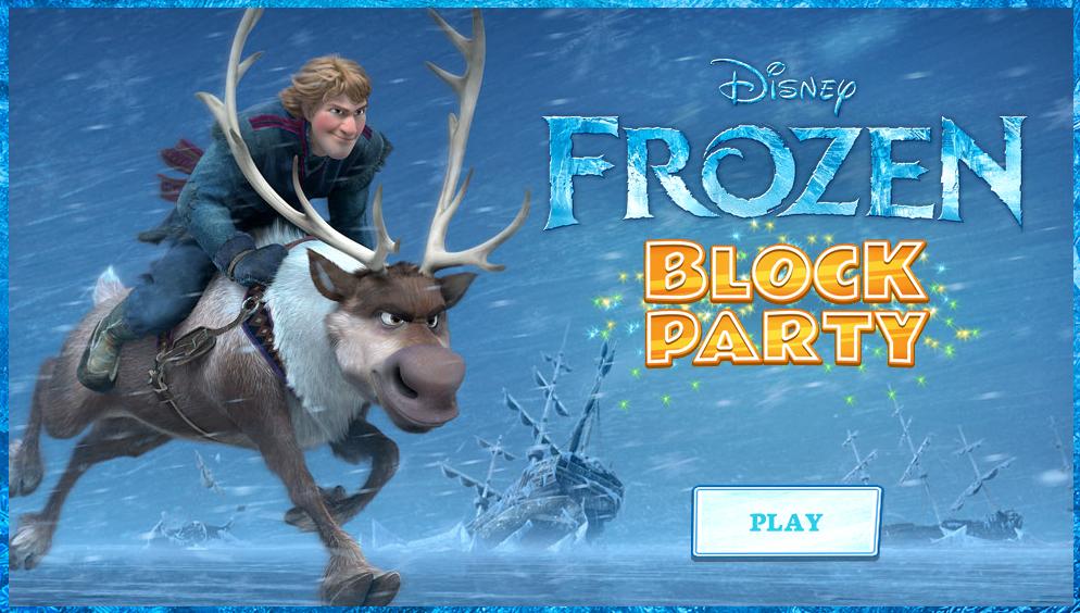 Frozen Frozen Block Party Game