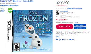 Frozen Olaf Quest Game