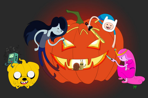 Adventure Time With Finn and Jake kertas dinding called Halloween