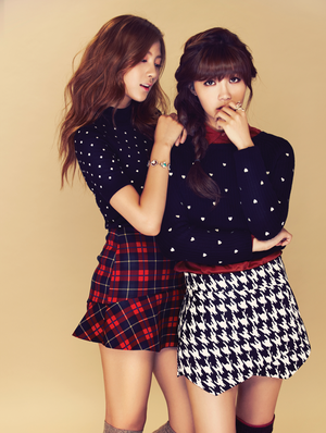 Hayoung & Eunji (A Pink) - Campus 10 Magazine September Issue '13