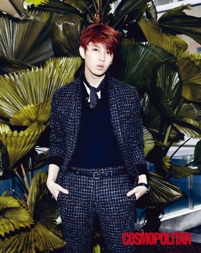 Kim Heechul wallpaper possibly containing a well dressed person and an outerwear called Heechul for 'Cosmopolitan'