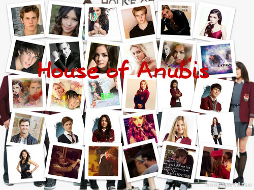 The House of Anubis achtergrond entitled House of Anubis <3