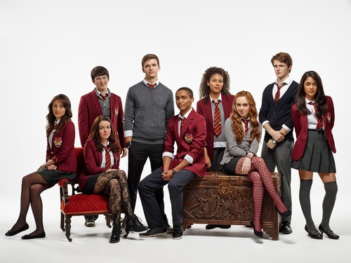 The House of Anubis wallpaper possibly containing a drawing room, a couch, and a business suit called House of Anubis