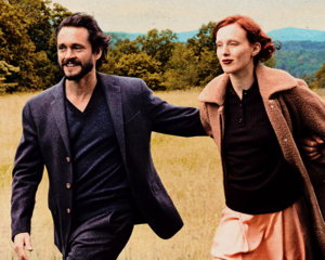 Hugh Dancy and Karen Elson photographed da Annie Leibovitz for Vogue