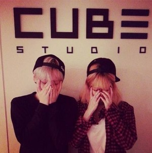 Hyuna with Hyunseung