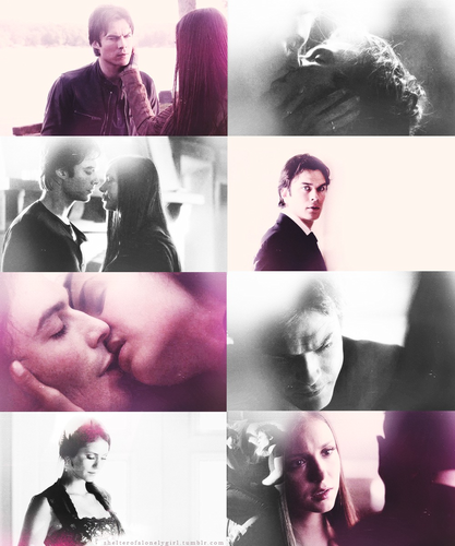 Damon & Elena wallpaper probably with a neonate titled It's the most real thing I've ever felt in my entire life.