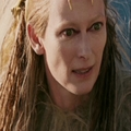 Jadis is surprised that it is Edmund who jumped down behind her. - jadis-queen-of-narnia photo