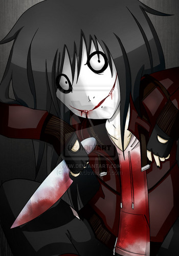Jeff the killer karatasi la kupamba ukuta entitled Jeff the Killer