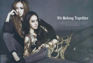 Jessica (SNSD) & Krystal ( f(x) ) - Harpers Bazaar
