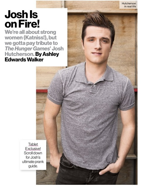 """Josh Hutcherson Glamour Magazine Tablet Exclusive """"Tips for Pulling Off Perfect Pranks"""""""