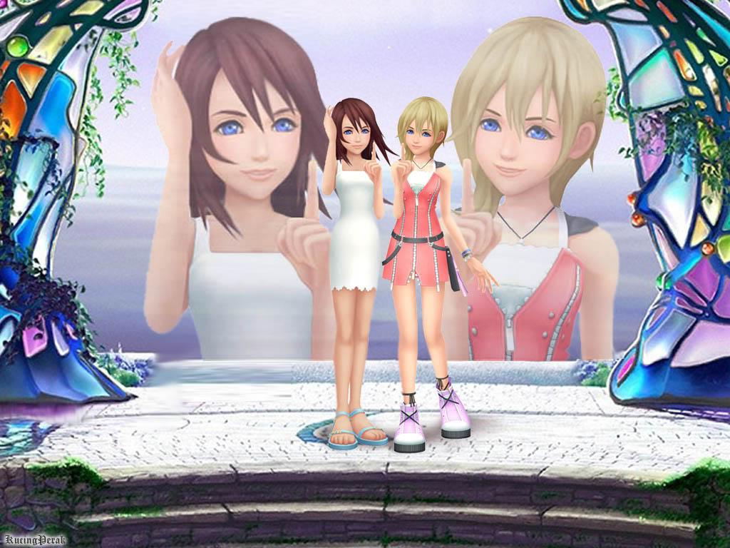Kingdom Hearts Namine And Kairi Anime Kairi & Namine ...