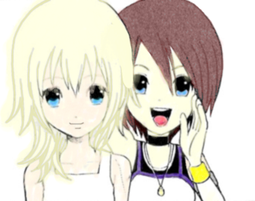 Kingdom Hearts Namine And Kairi Anime Kairi images Kairi &am...