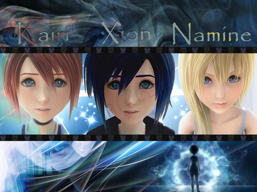 Naminé wallpaper probably with a sign titled Kairi - Xion - Namine