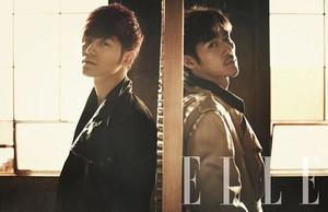 Kim Kang Woo & Kim Bum – ELLE Korea March 2013