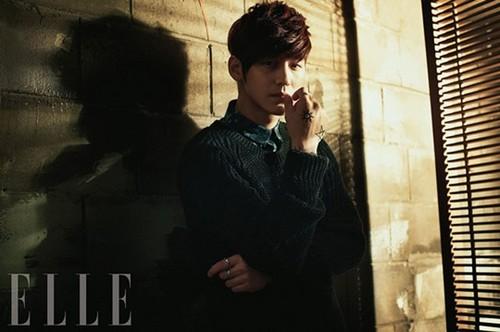 Ким Бом Обои titled Kim Kang Woo & Kim Bum – ELLE Korea March 2013