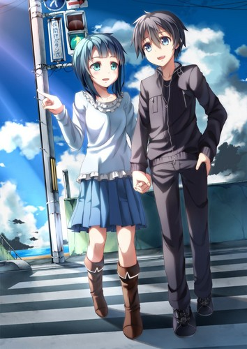 sword art online fondo de pantalla probably containing a hip boot called Kirito x Sachi