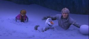 Kristoff, Anna and Olaf Screencap