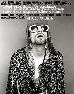 Feminism Обои titled Kurt Cobain quote