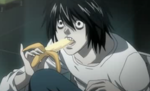 L eating banana