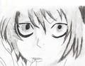 L. lawliet  (my fan art) - anime fan art