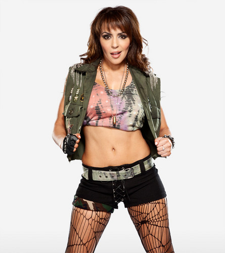 wwe layla wallpaper possibly containing a hip boot and a legging entitled Layla