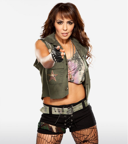 WWE LAYLA wallpaper probably with fatigues, a green beret, and battle dress titled Layla