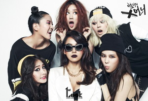 Lee Hyori (with Spica) - 1st Look Magazine