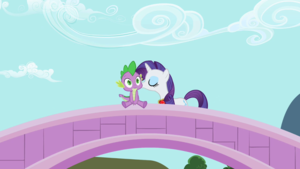 MLP S2EP10 Rarity Kisses Spike again